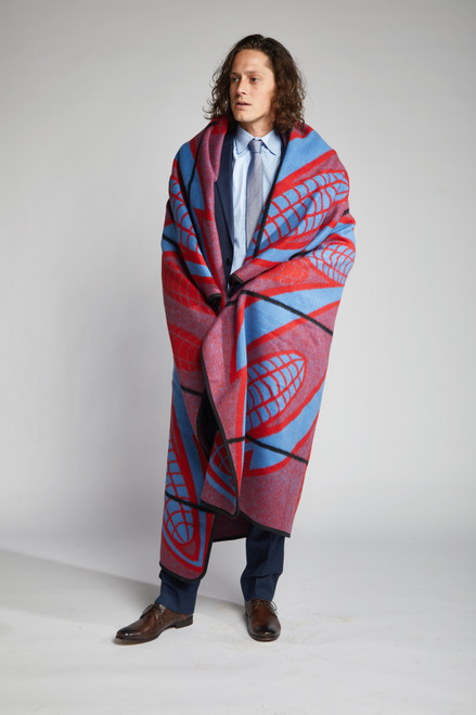 Heritage Blanket Scarf - Scarlet Poone - muntu - themuntu.com