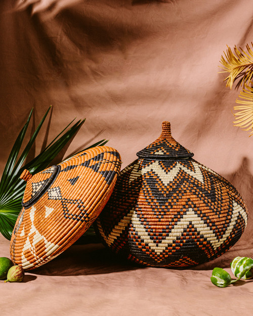 Zulu Basket Geometric Patterns