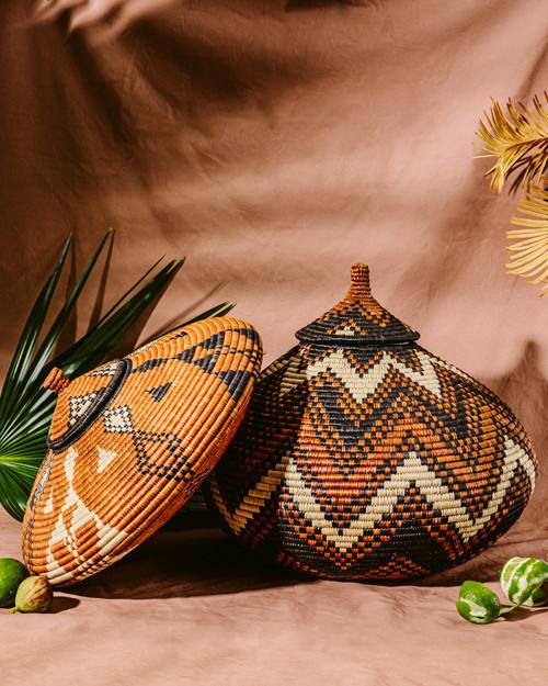 Zulu Basket Geometric Patterns