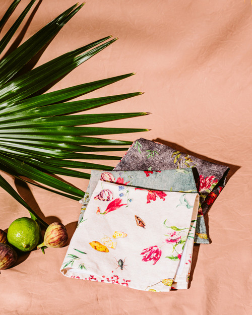 Floral Vintage Cotton Napkins