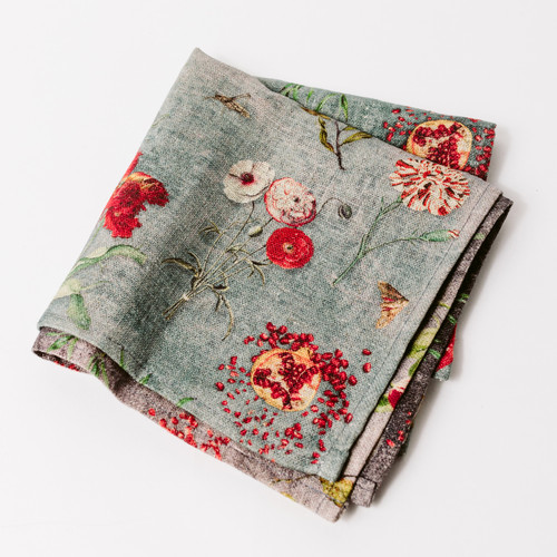 Floral linen napkins steal