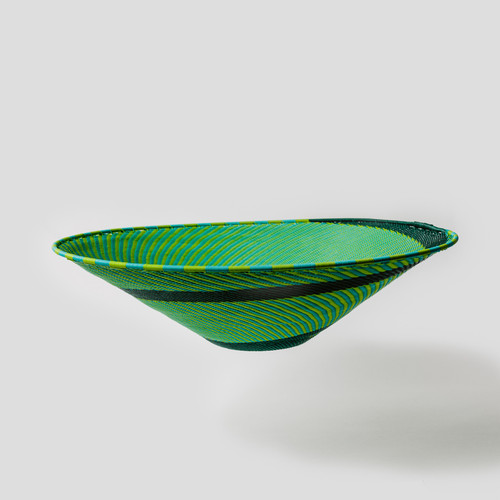 Hand Woven Lampshade Accent- Emerald