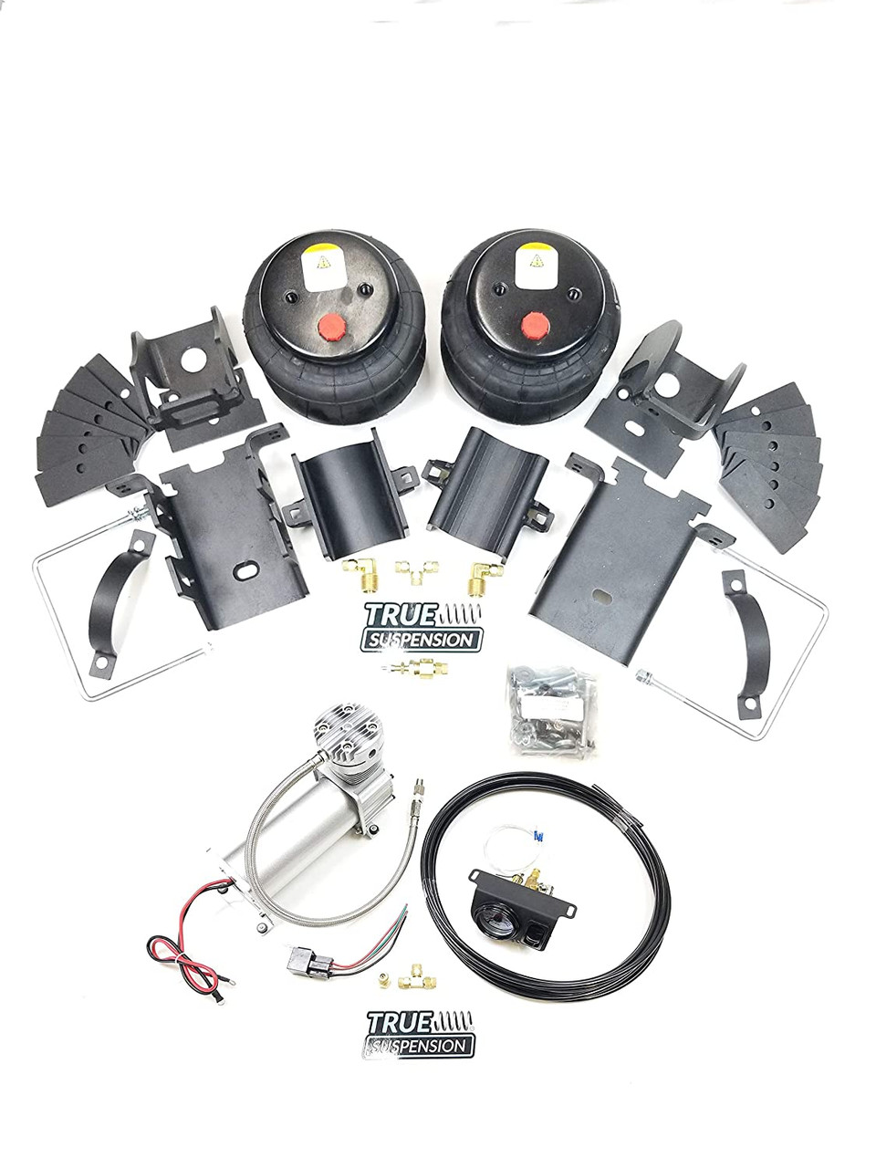 Compatible with Ford F350 Pickup Truck 11-16 Towing Assist Helper Air Ride Suspension with Management Control Kit( No tank) 2WD