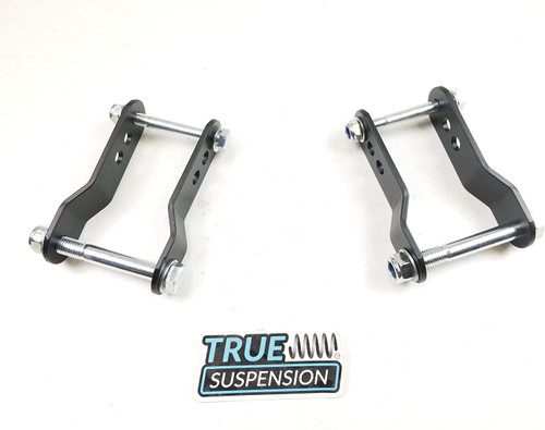 """Compatible with Toyota Tacoma Pickup Truck 96-04 Rear Adjustable 1-1.75"""" Lift Shackle Leveling Kit 2WD"""