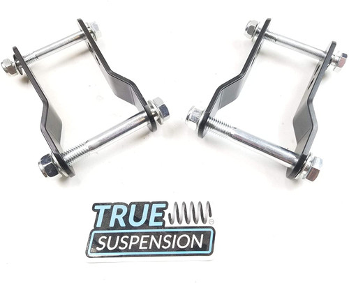 """Compatible with Toyota Tacoma Pickup Truck 96-04 Rear Adjustable 1-1.75"""" Lift Shackle Leveling Kit 4x4 4WD"""