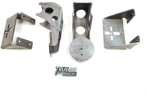 Complete Rear Universal Active Air Ride Suspension Weld-on Heavy Duty Parallel 4link Kit with 2600 air springs
