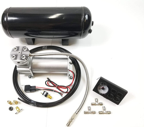 Compatible with Ford F150 Pickup Truck 04-14 Towing Assist Helper Air Ride Suspension In-Cab Controls with Reserve Tank Kit 4WD 2WD