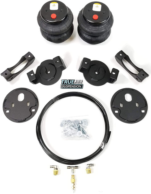 Compatible with Chevrolet Silverado 2500 3500 11-16 Pickup Rear Towing Helper Assist Air Ride Suspension Kit
