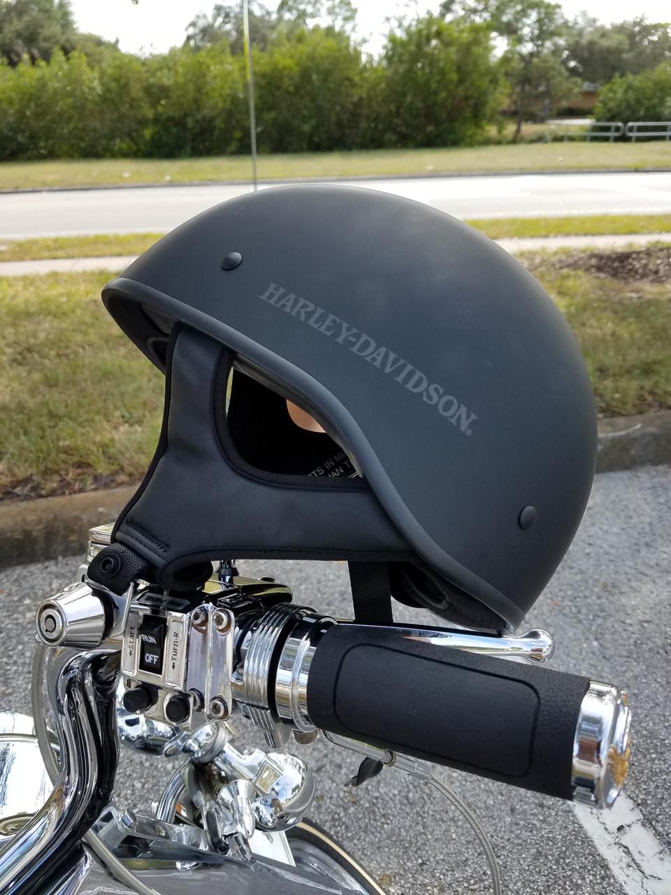 Lidlox Helmet Lock for Harley Davidsons.  Clean design, easy to install, easy to use motorcycle helmet lock.