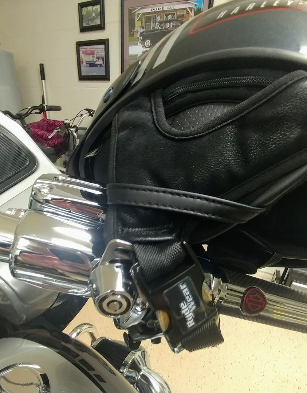 2002-C, Lidlox Helmet Lock Pair for Harley Davidson, Chrome