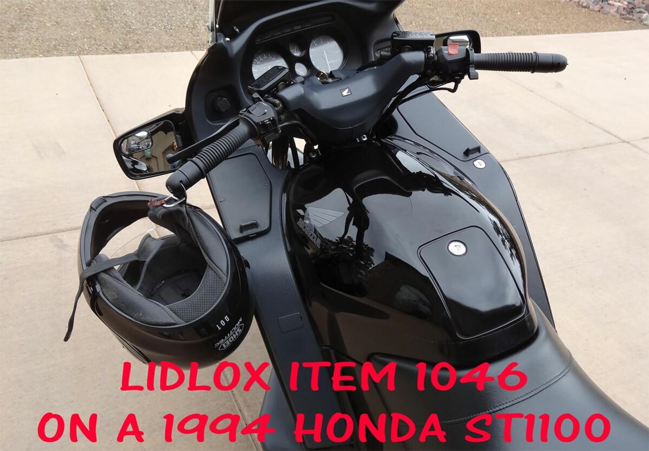 1046-BB, Lidlox Pair for Honda ST 1100 91-94, Black.