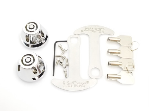 Lidlox Item 1032-C Pair for Kuryakyn Grips, Chrome.