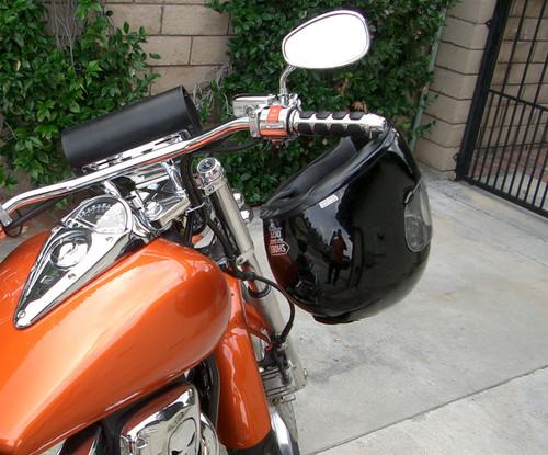 1031-C, Lidlox Helmet Lock Single for Kuryakyn Grips, Chrome.
