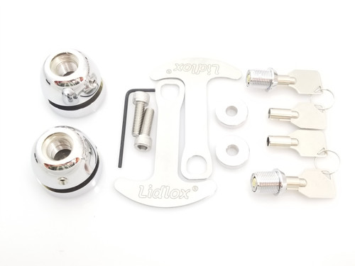 1010-C Lidlox Helmet Lock Pair for Victory Vision, Chrome