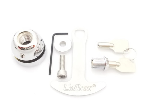 1009-C Lidlox Helmet Lock Single for Victory Vision, Chrome