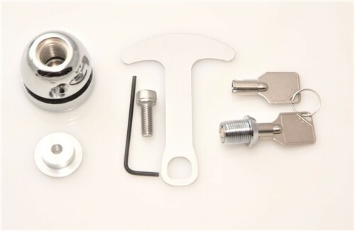 1039-C Lidlox BAR END Helmet Lock Single for Harley Davidson, Chrome
