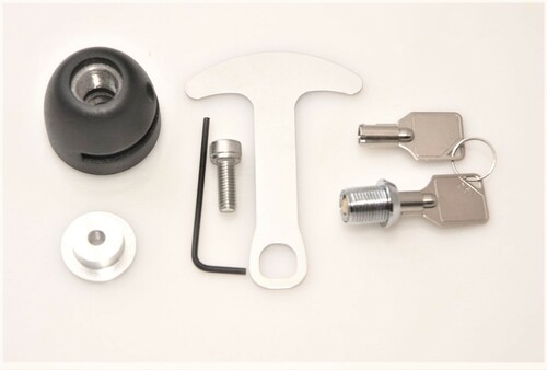 1039-B Lidlox BAR END Helmet Lock Single for Harley Davidson, Black