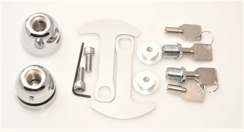 1040-C Lidlox BAR END Helmet Lock Pair for Harley Davidson, Chrome