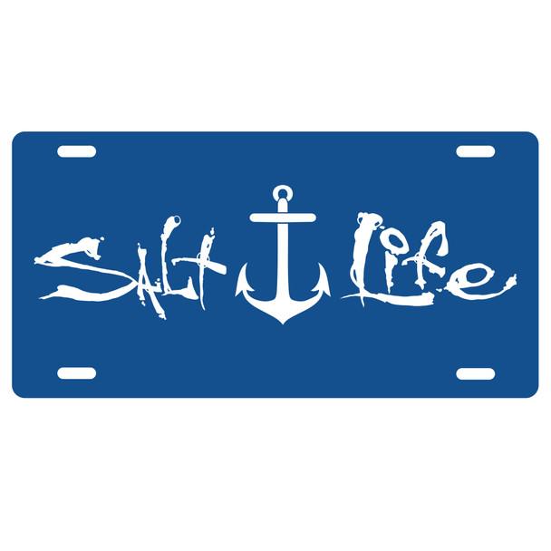 royal blue salt life anchor license plate car tag