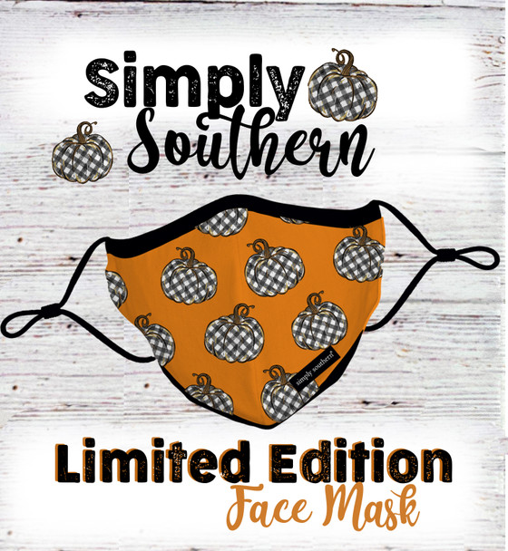 simply southern fall pumpkins face mask