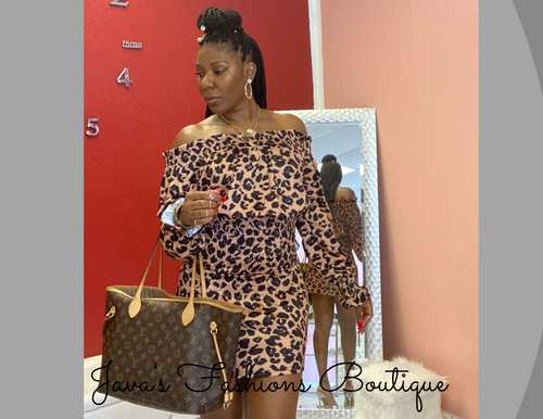 Jayda Leopard Ruched Dress