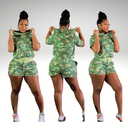 Army Fatigue Leisure Two-Piece