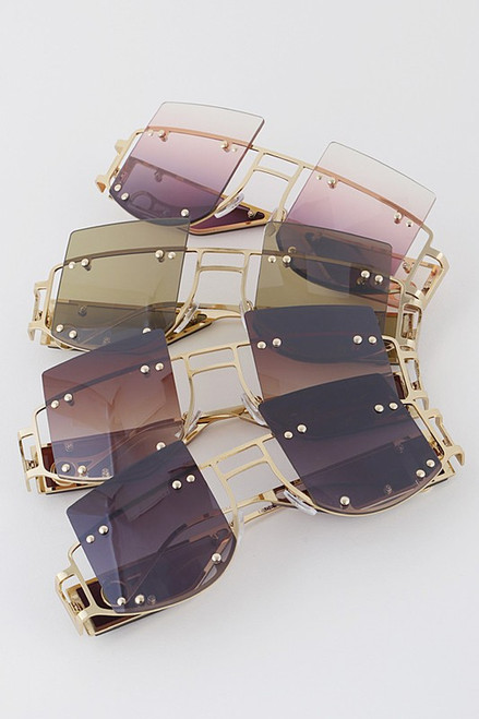Cutout Oversize Iconic Sunglasses