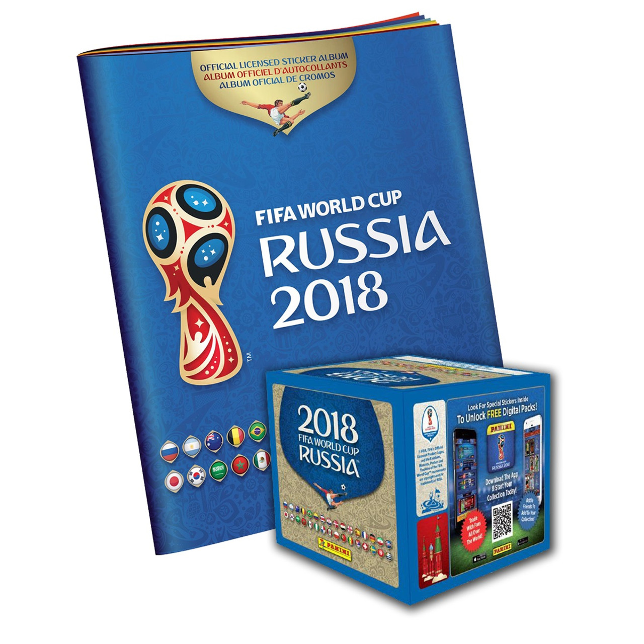 41be5fd15 PANINI 2018 FIFA WORLD CUP RUSSIA ALBUM AND STICKERS (50 packets x 5  stickers) - NOI USA