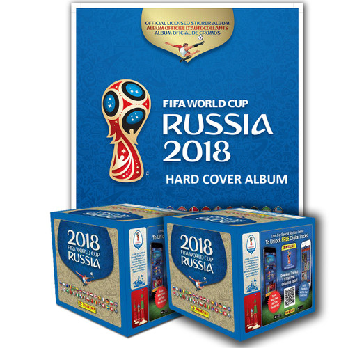 HARD COVER PANINI 2018 FIFA WORLD CUP RUSSIA ALBUM AND 2 BOXES