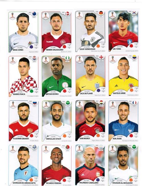 2c38b08ad Panini World Cup 2018 Update Set 96 Stickers - NOI USA