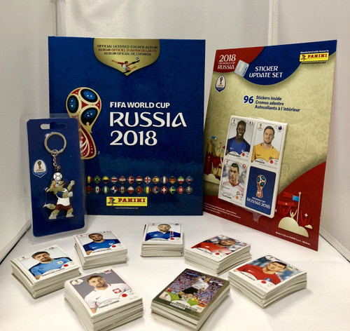 Panini World Cup 2018 Hard Cover Album with all 682 exact Stickers