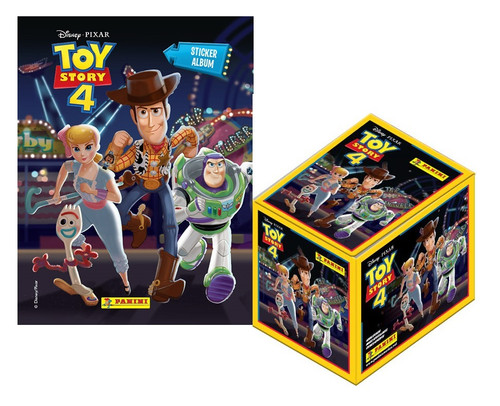 Panini Toy Story 4 Sticker Collection: 1 Album + 50 Sticker Pack Box  (5 Stickers per Pack) FREE SHIPPING
