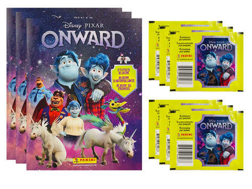 Panini Onward Disney Pixar Sticker Collection: 50 Packs (5 Stickers per Pack)+ 3 Free Albums  (FREE SHIPPING)
