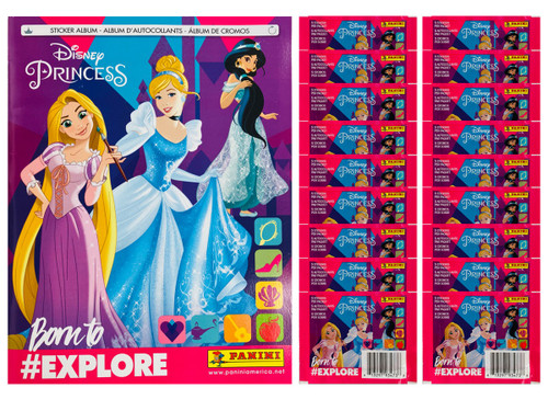 Panini Princess Disney Sticker Collection: 50 Packs (5 Stickers per Pack)+ 3 Free Albums  (FREE SHIPPING)