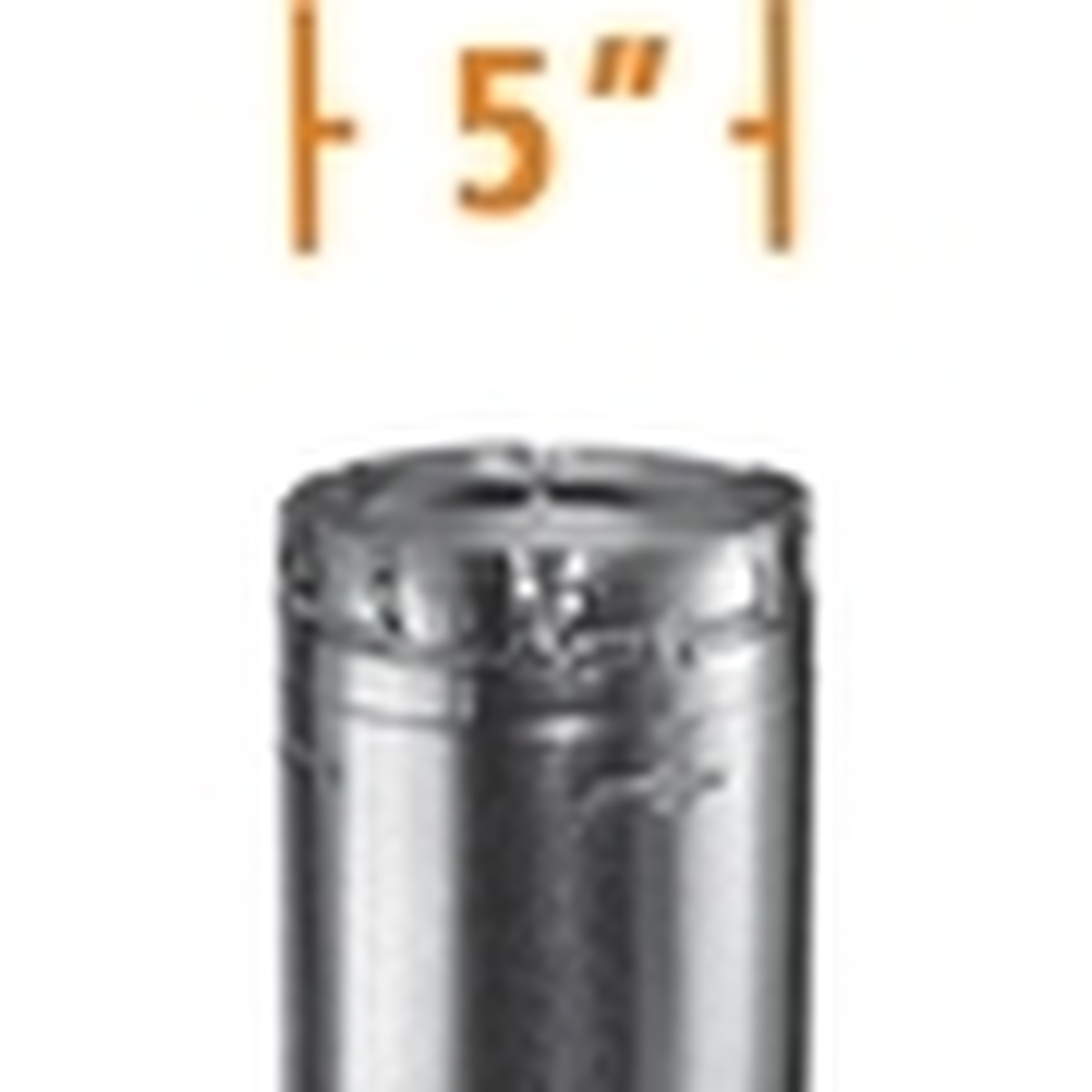 5'' B-Vent Round Gas Vent Pipe