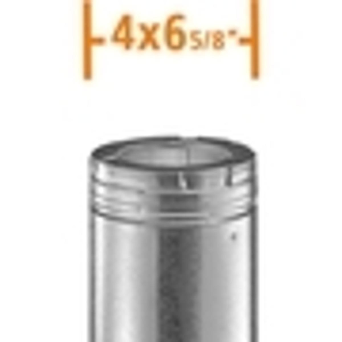 "4"" x 6 5/8"" DuraVent DirectVent Pro Gas Vent Pipe"