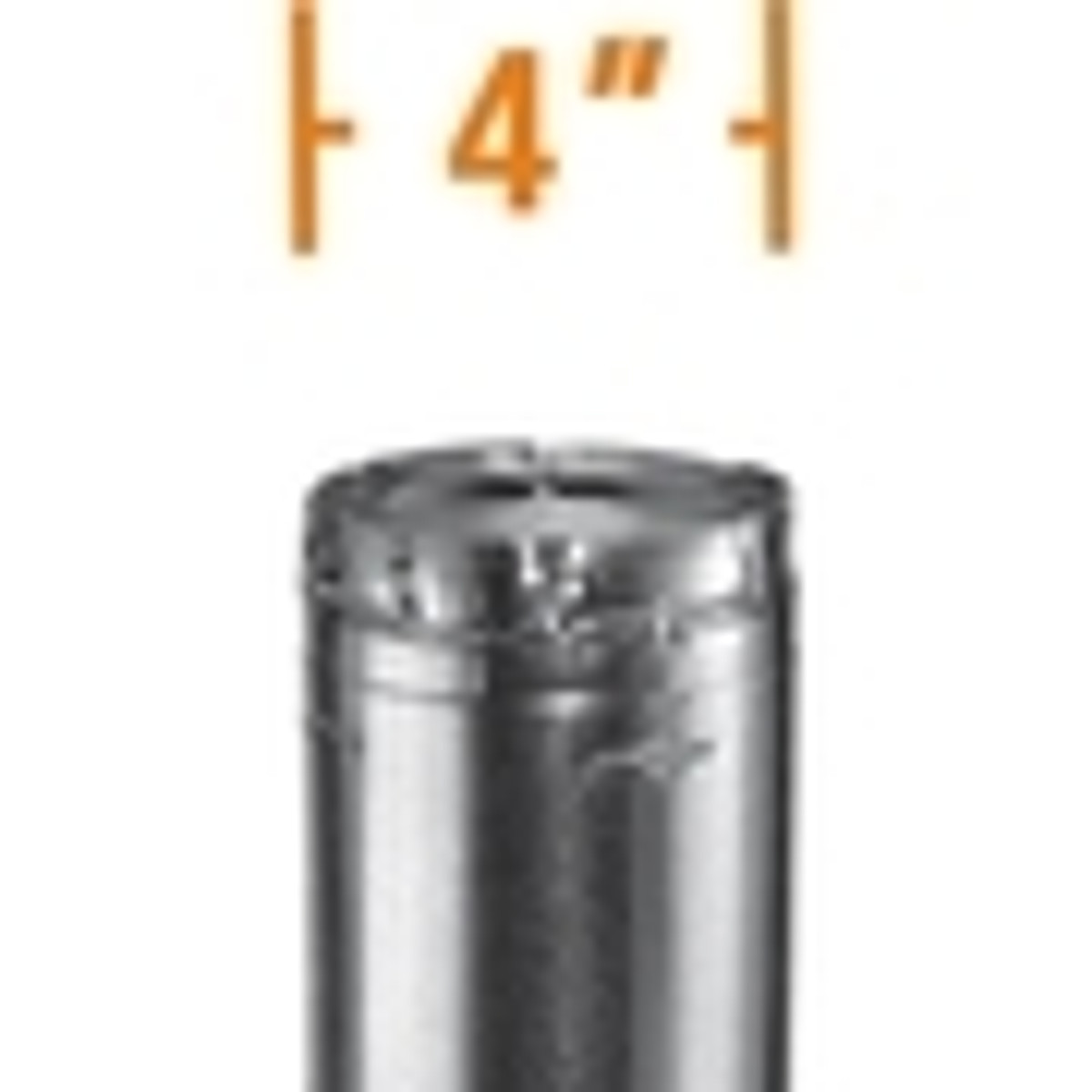 4'' B-Vent Round Gas Vent Pipe