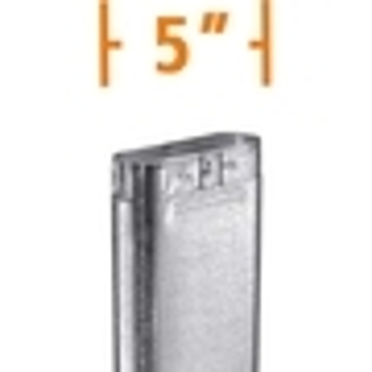 5'' Type B Oval Gas Vent