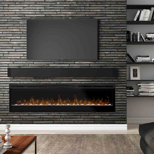 "74"" Prism Series Wall Mount Linear Electric Fireplace"