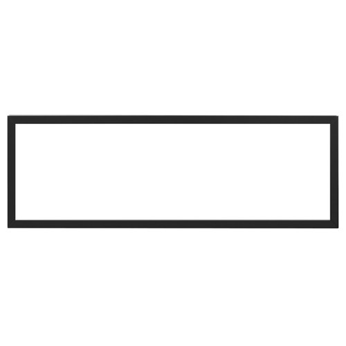"Black metal trim, compatible with IgniteXL 50"" Linear Fireplace"