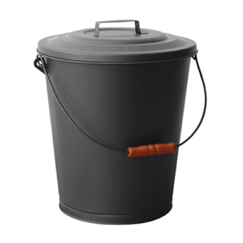 Black Ash Bin with Lid