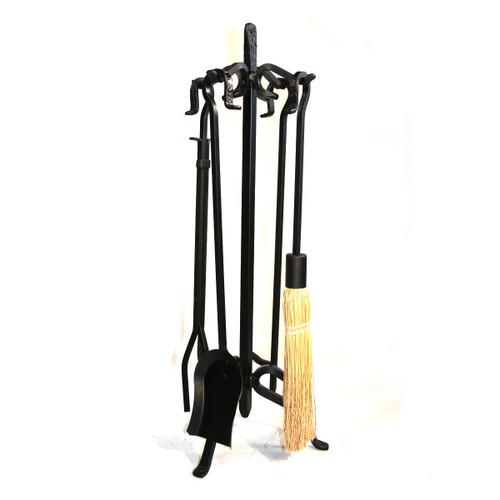 5 Piece Heavy Weight Black Wrought Iron