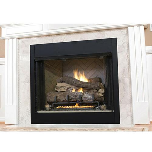 "Superior 42"" VRT3500 Series Vent-Free Circulating Smooth Face Fireplace - White Stacked Liner"