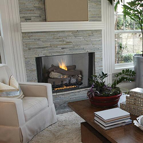 "Superior 36"" VRT4500 Series Vent-Free Fireplace - White Stacked Brick"