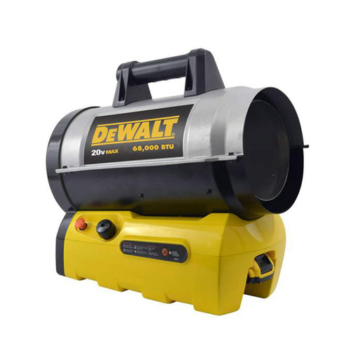DEWALT 68,000 BTU Cordless Hybrid Forced Air Propane Heater
