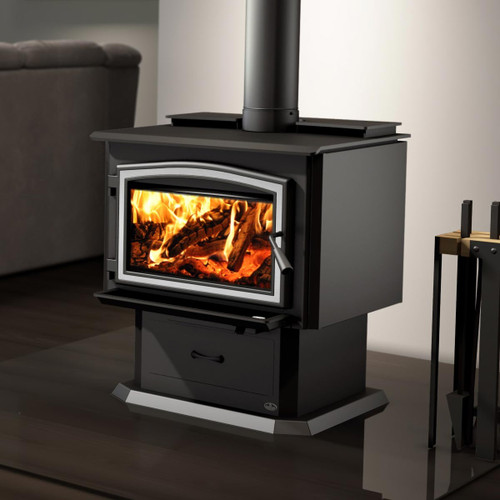 Osburn 3500 Metallic Black EPA Wood Stove with Blower