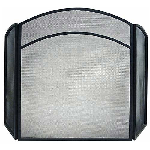 3 Fold Arched Screen - Black