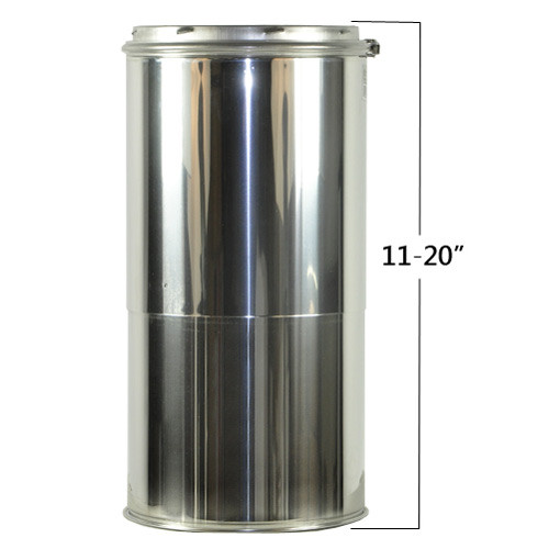 Shasta Vent Adjustable Chimney Pipe 8 Inch x 11 - 20 Inches