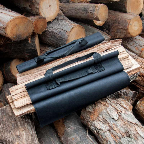 Canvas Log Carrier - Black