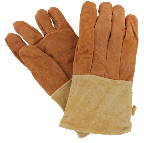 """WoodEze 13"""" Flame Resistant Hearth Gloves - Tan - Med/Large"""